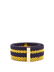 Roksanda Ilincic Striped Woven Elastic Belt Yellow
