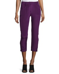 Cnc Costume National Mid Rise Skinny Cropped Trousers Purple Women's