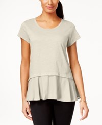 Styleandco. Style And Co. Layered Look Peplum T Shirt Only At Macy's