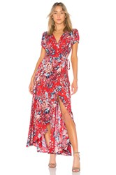 Auguste Abigail Wrap Maxi Dress Red