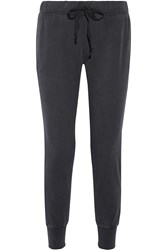 Current Elliott The Vintage Cotton Jersey Track Pants Black