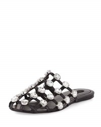 Alexander Wang Amelia Jewel Studded Leather Mule Black