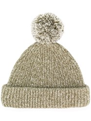 Acne Studios Knitted Beanie Hat Green