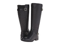 Naturalizer Jalyn Wide Calf Black Pebbled Leather Women's Wide Shaft Boots