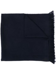 Emporio Armani Knitted Scarf Blue