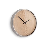 Umbra Madera Wall Clock Natural Nickel