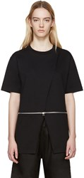 Hood By Air Black Jersey Sari T Shirt