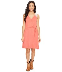 Rock And Roll Cowgirl Sleeveless Dress D5 1147 Coral Women's Dress