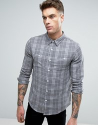 Another Influence Grey Check Shirt Grey
