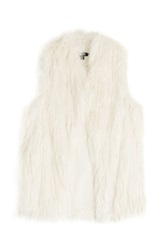 Dkny Faux Fur Vest White