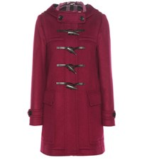 Burberry Baysbrooke Wool Coat Purple