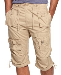 Sean John Shorts Big And Tall Classic Flight Cargo Shorts Kelp