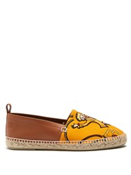 Loewe X Paula's Ibiza Clown Print Canvas Espadrilles Orange Multi