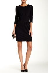 Hugo Boss Pleated Front Dress Black