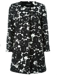 Twin Set Flower Print Coat Black