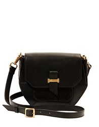 Brian Atwood Eliza Leather Shoulder Bag Black