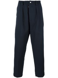 Matieres Elasticated Waistband Trousers Blue