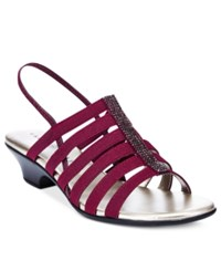 Karen Scott Estevee Sandals Only At Macy's Women's Shoes Burgundy