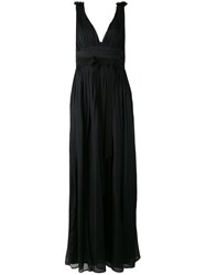Marco Bologna Empire Line Evening Dress Women Silk 46 Black