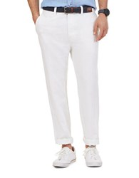 Nautica Linen And Cotton Pants Bright White