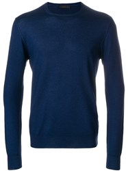 Prada Long Sleeve Pullover Blue