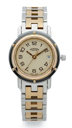 Wgaca Vintage Hermes Clipper Pm Watch Gold