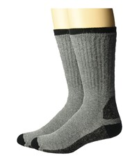 Wigwam At Work Double Duty 2 Pack Grey Crew Cut Socks Shoes Gray