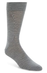 Lorenzo Uomo Men's Merino Wool Blend Socks Grey