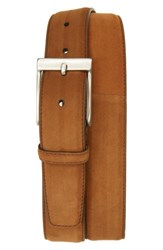 Magnanni Men's Big And Tall Ante Cabra Leather Belt Cognac