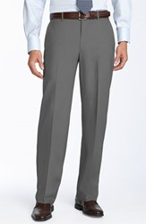 Ballin Men's Stain Resistant Flat Front Trousers Pearl Grey