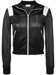 Red Valentino Miss You Mesh Sports Jacket Black