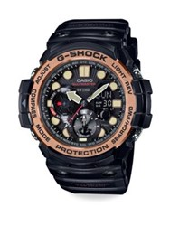 G Shock Rose Goldtone Resin Strap Watch Black