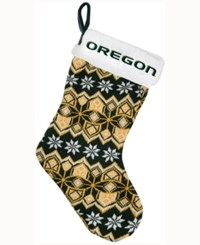 Forever Collectibles Oregon Ducks Ugly Sweater Knit Team Stocking Green