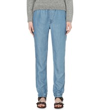 Closed Elasticated Straight Mid Rise Jeans Soft Light Wash