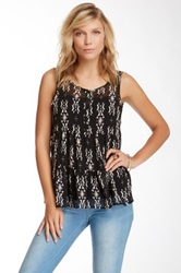 Painted Threads Boho Tiered Tank Juniors Black