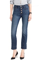 J.Crew Women's 'Straight Away' Stretch High Rise Crop Jeans