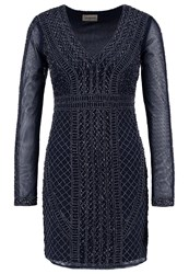 Lace And Beads Lanta Cocktail Dress Party Dress Navy Dark Blue