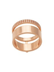 Repossi 14Kt Yellow Gold Double Band Diamond Ring