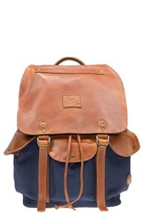 Men's Will Leather Goods 'Lennon' Backpack Blue Navy Tan