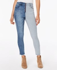 Dollhouse Juniors' Two Tone Ankle Skinny Jeans
