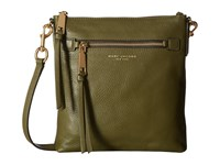 Marc Jacobs Recruit North South Crossbody Army Green Cross Body Handbags