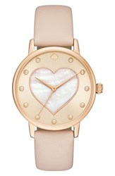 Kate Spade Women's New York Metro Mother Of Pearl Heart Watch 34Mm