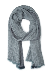 Forever 21 Contrast Striped Scarf Blue Teal