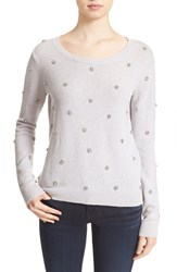 Women's Joie 'Myron C' Embellished Wool And Cashmere Pullover
