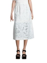 Mother Of Pearl Shelly Fit And Flare Skirt White