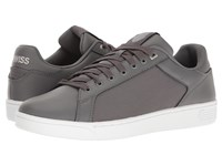 K Swiss Clean Court Cmf Charcoal Silver White Men's Tennis Shoes Gray