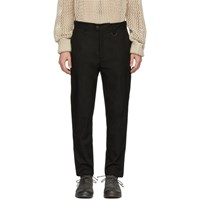 Isabel Benenato Black Slim Fit Trousers