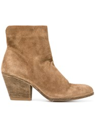Officine Creative Jacqueline Boots Women Leather Suede 38.5 Brown