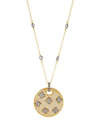 Freida Rothman Large Pave Love Knot Shield Pendant Necklace No Color