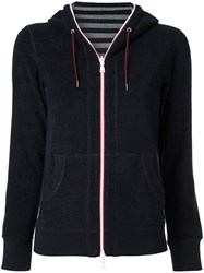 Loveless Zipped Fleece Hoodie Blue